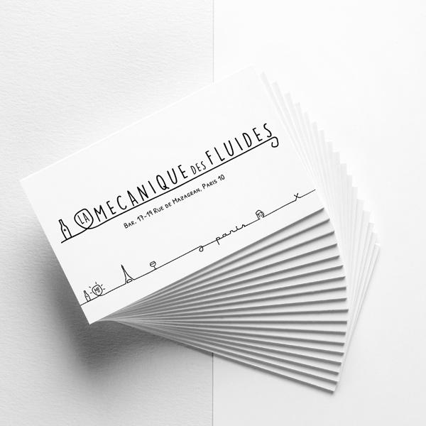Cedric Darrigrand Graphiste Mimizan Landes 40 Carte De Visite La Mecanique Des Fluides